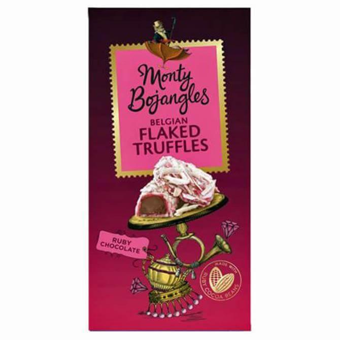 Monty Bojangles Ruby Chocolate Flaked Truffles 100G