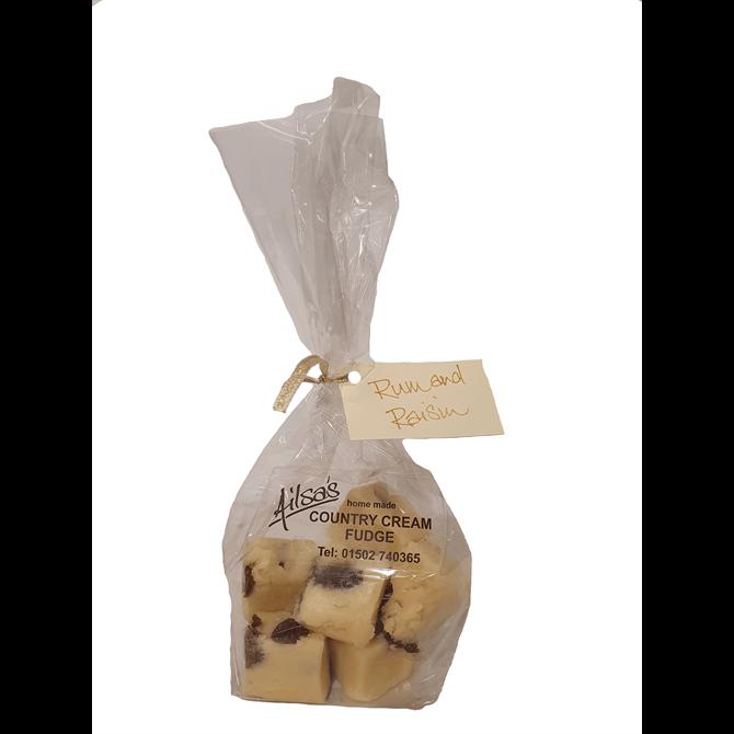 Ailsas Country Cream Fudge - Rum & Raisin Fudge 150G