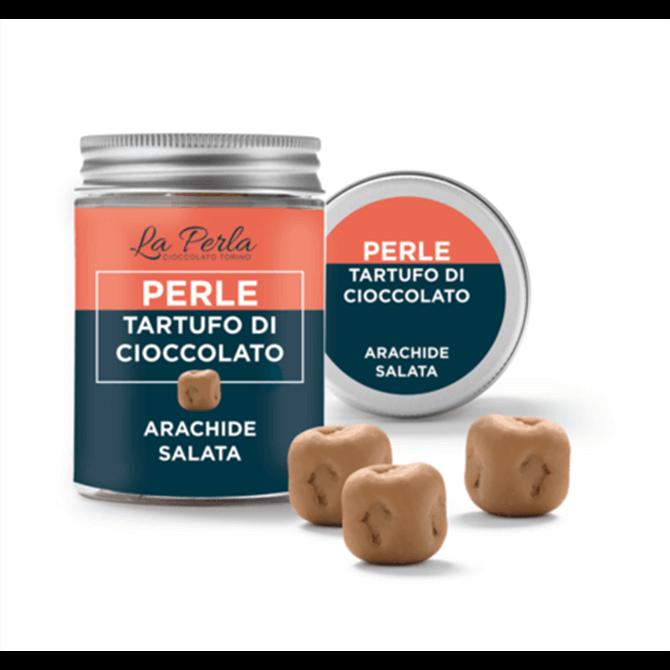 La Perla Salted Peanut white chocolate truffle 50g