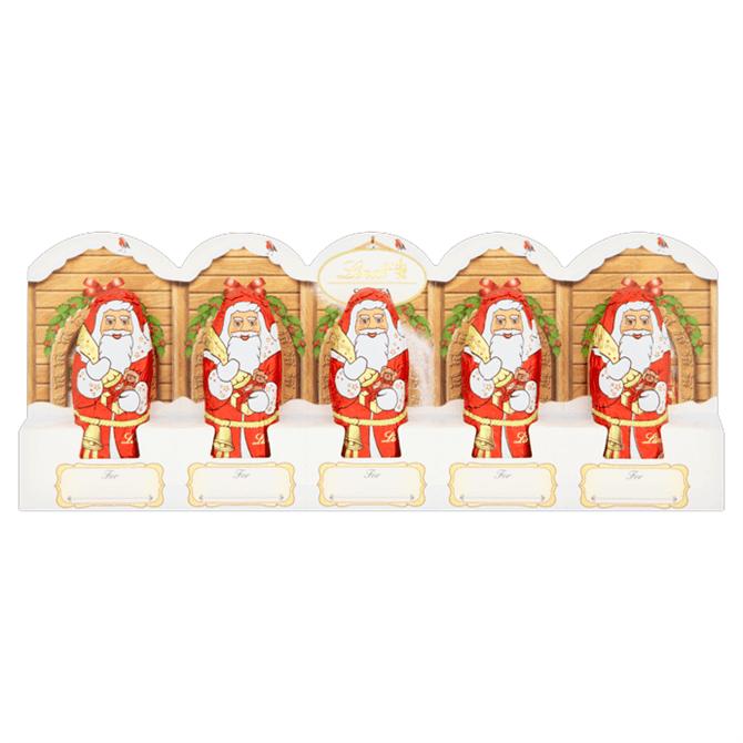 Lindt Santa Milk Chocolate Mini 5 Pack Perforation 5x 10g