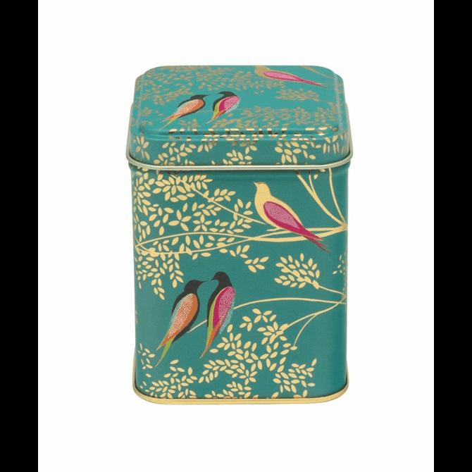Sara Miller London Green Bird Tin with Vanilla Fudge 75g