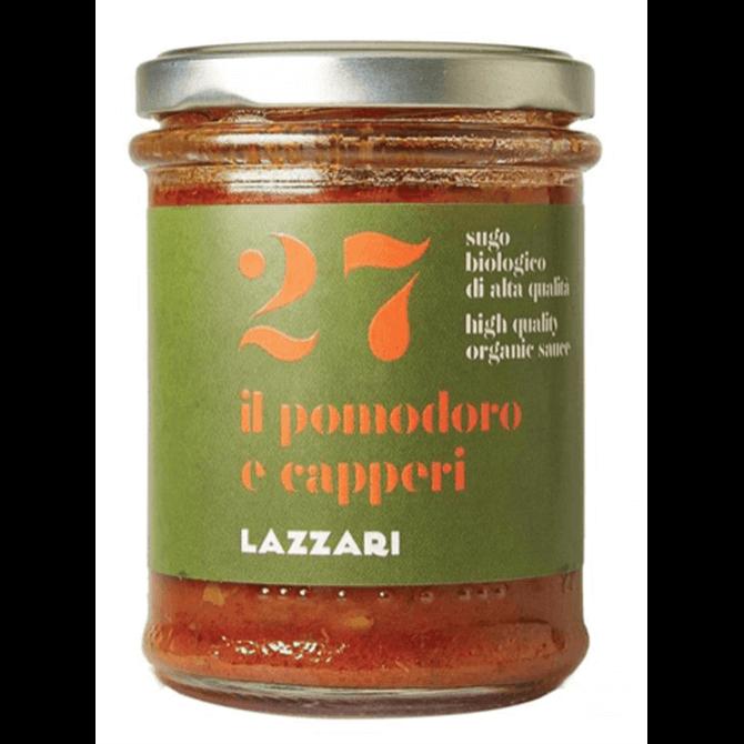 Lazzari Organic 27 Tomato, Caper & Basil Pasta Sauce 180g