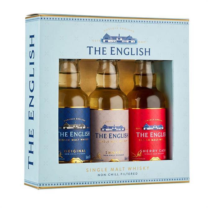 The English Single Malt Whisky Gift Set 3x 50ml