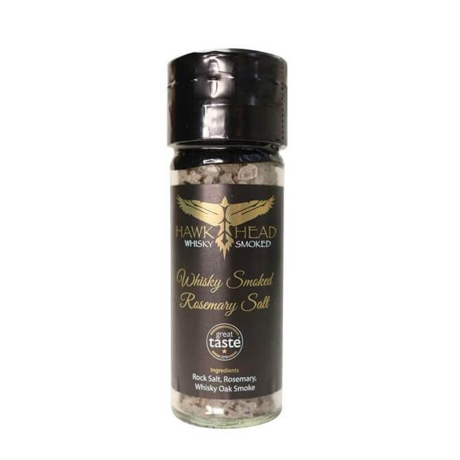 HawkHead Whisky Oak Smoked Rosemary Rock Salt 95g