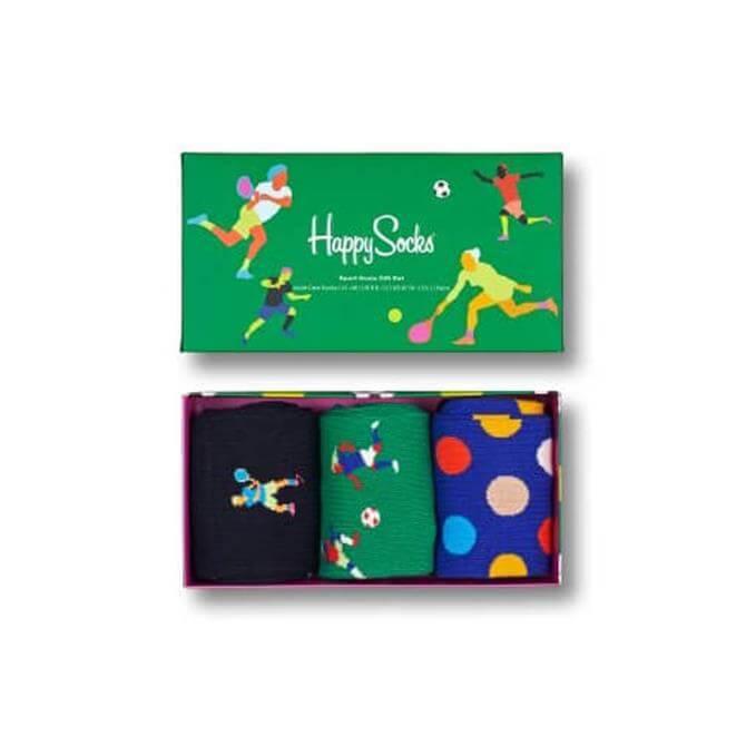 Happy Socks 3-Pack Sport Gift Set