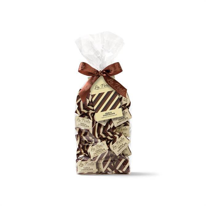 La Perla Chocolate truffle with Piedmont hazelnuts Clear bag 200g