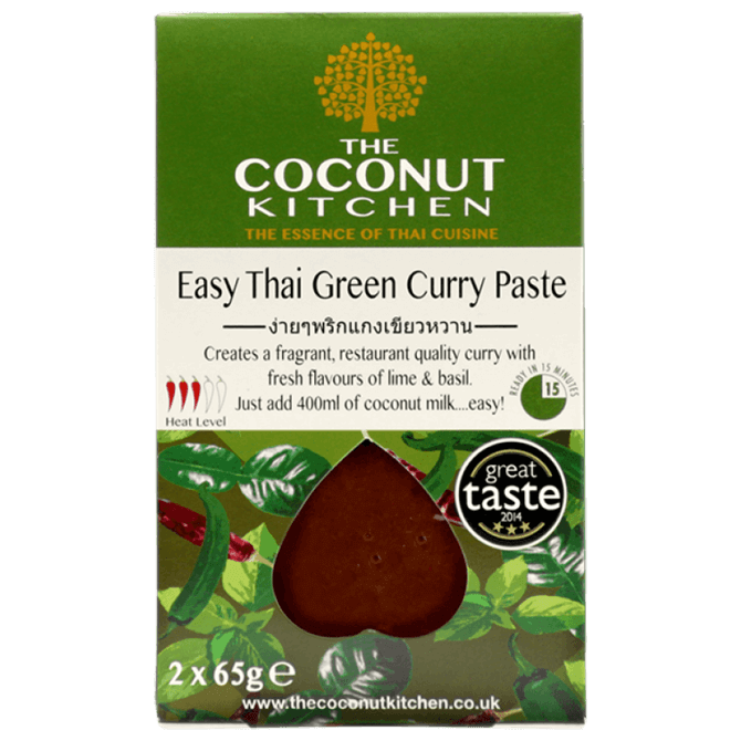 The Coconut Kitchen Thai Green Curry Paste 2x 65g