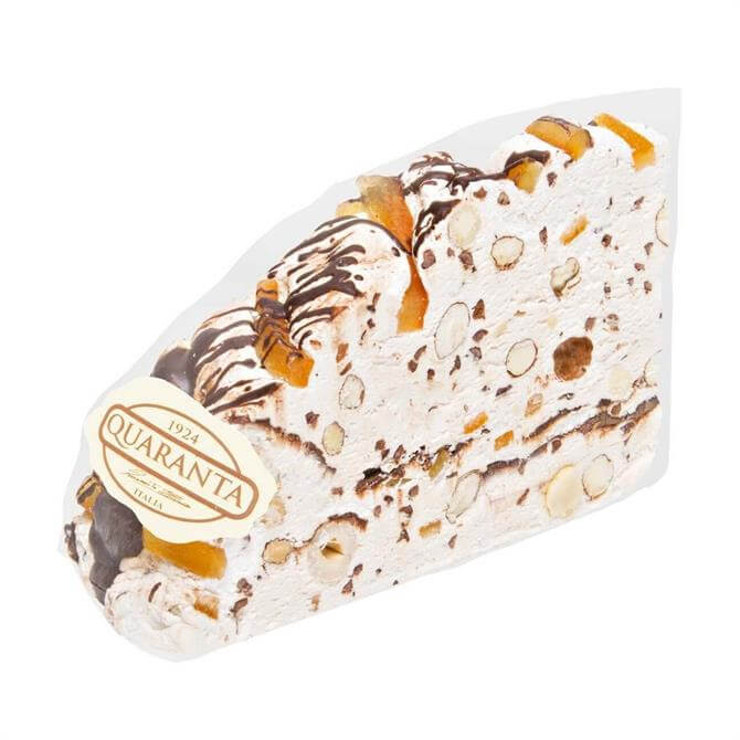 Quaranta Dark Chocolate & Orange Peel Soft Nougat Cake Slice 165g