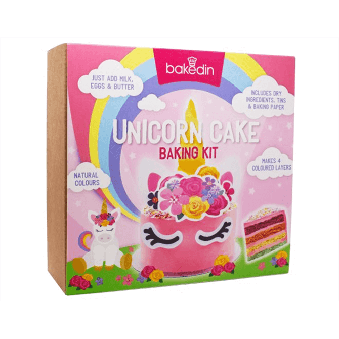 Bakedin Unicorn Cake Baking Kit 975g