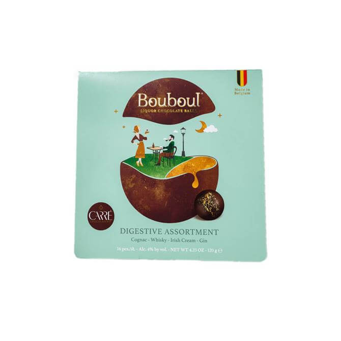 Boubol Digestive Assortment Dark Chocolate Liquers 120G