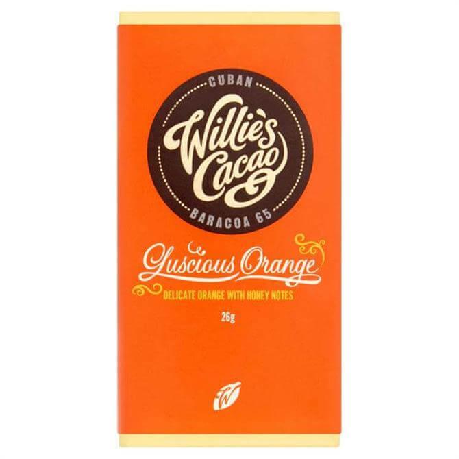 Willie's Cacao Gluten Free Luscious Orange Dark Chocolate with Delicate Orange 26g