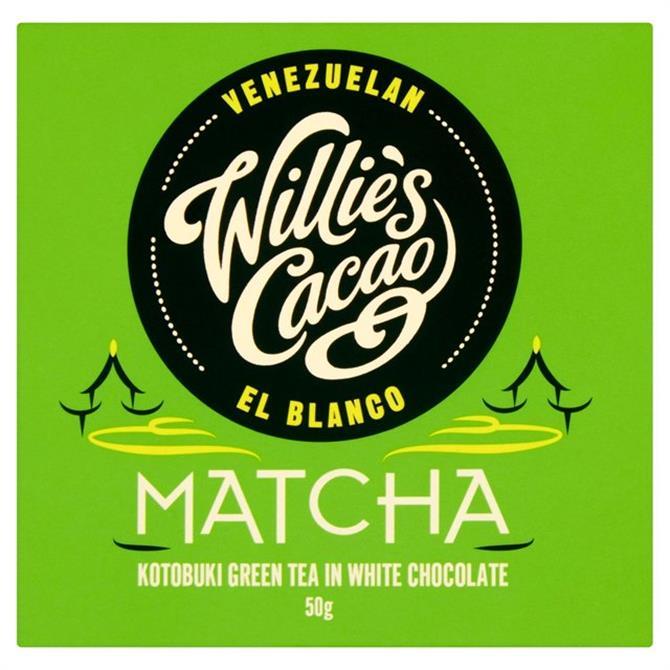 Willie's Cacao Matcha Gluten Free Kotobuki Green Tea in White Chocolate 50g