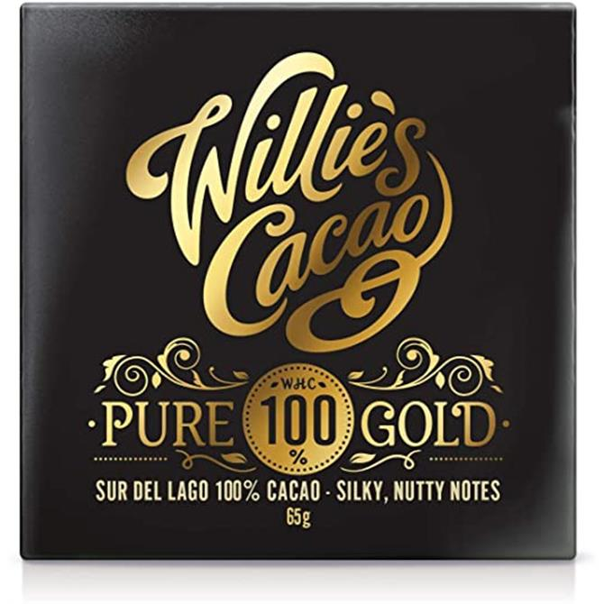 Willie's Cacao Gluten Free Pure 100% Gold Silky, Nutty Notes 65g