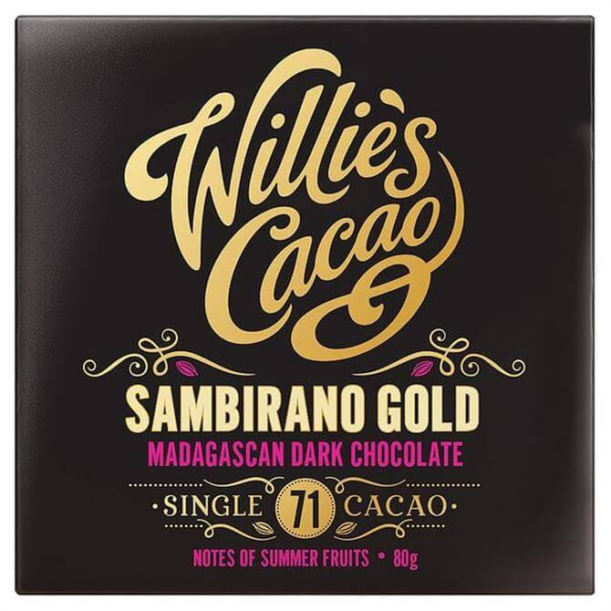 Willie's Cacao Gluten Free Sambirano Gold Madagascan Dark Chocolate with Notes of Summer Fruits 80g
