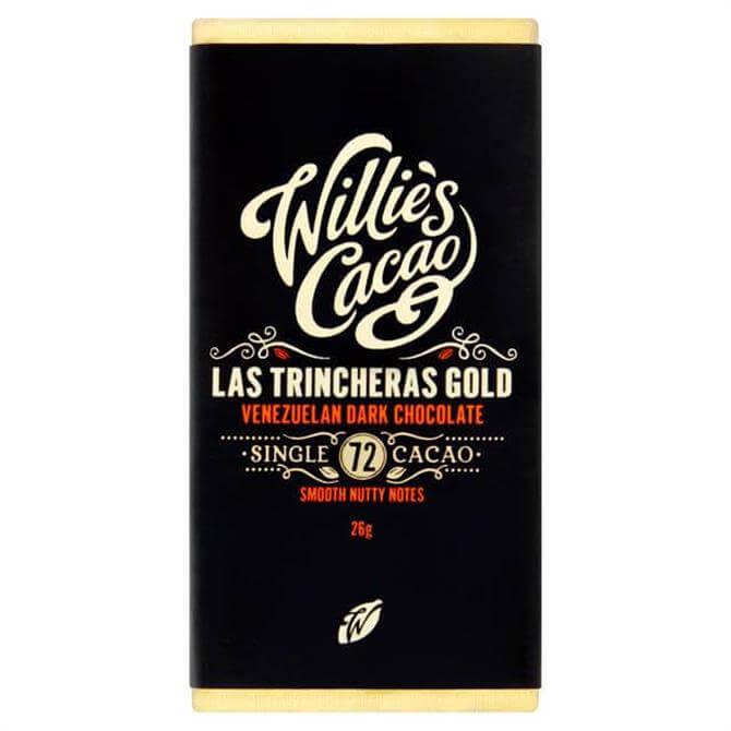 Willie's Cacao Gluten Free Las Trincheras Gold Venezuelan Dark Chocolate with Smooth Nutty Notes 26g