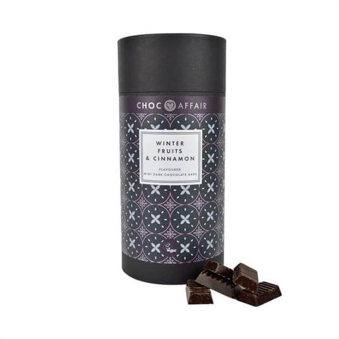 Choc Affair Winter Fruits & Cinnamon Dark Chocolate Mini Bars