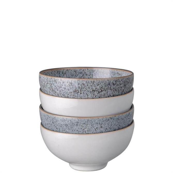 Denby Studio Grey 4 Piece Mix Rice Bowl Set