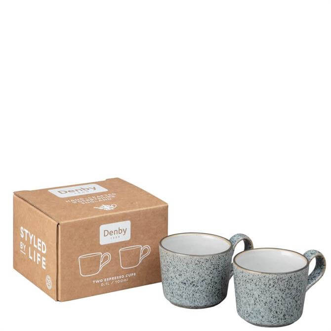 Denby Studio Grey Brew Set of 2 Espresso Cups