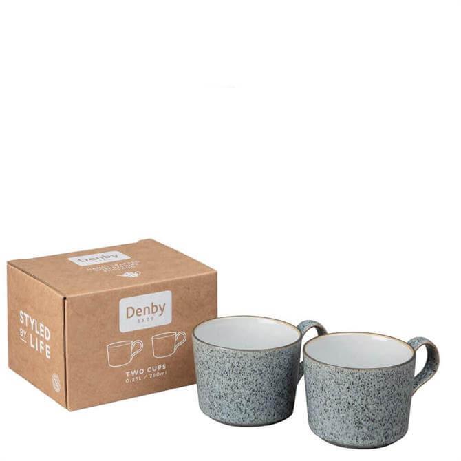 Denby Studio Grey Brew Set of 2 Tea/Coffee Cups