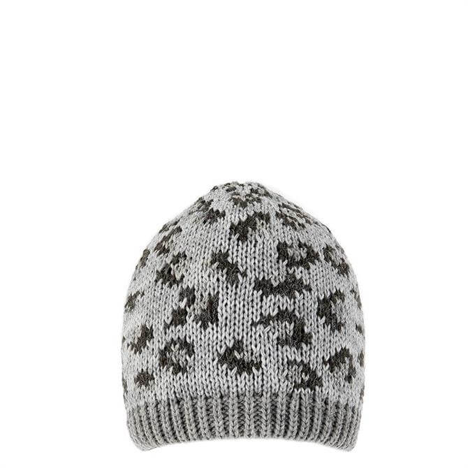 Dents Ladies Animal Print Knitted Beanie Hat
