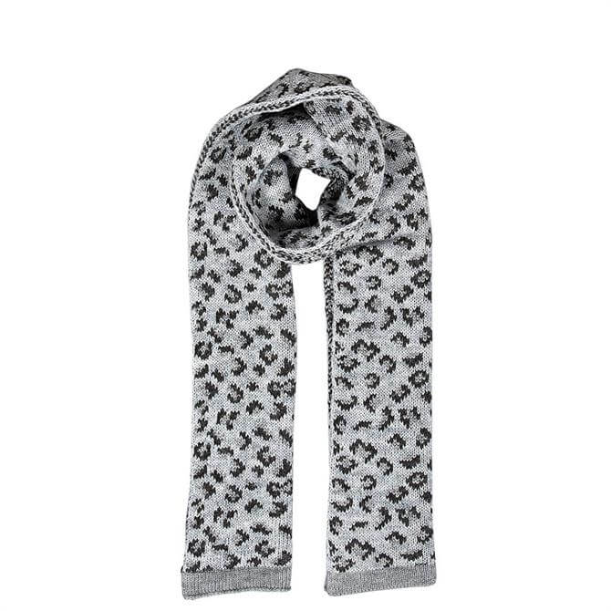 Dents Ladies Animal Print Knitted Scarf