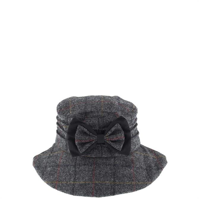 Dents Ladies Abraham Moon Check Hat with Bow Detail