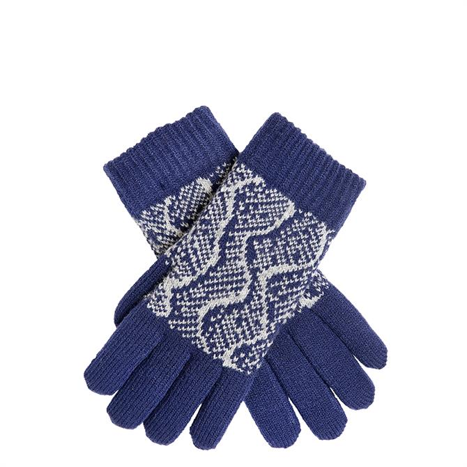 Dents Ladies Reptile Print Knitted Gloves