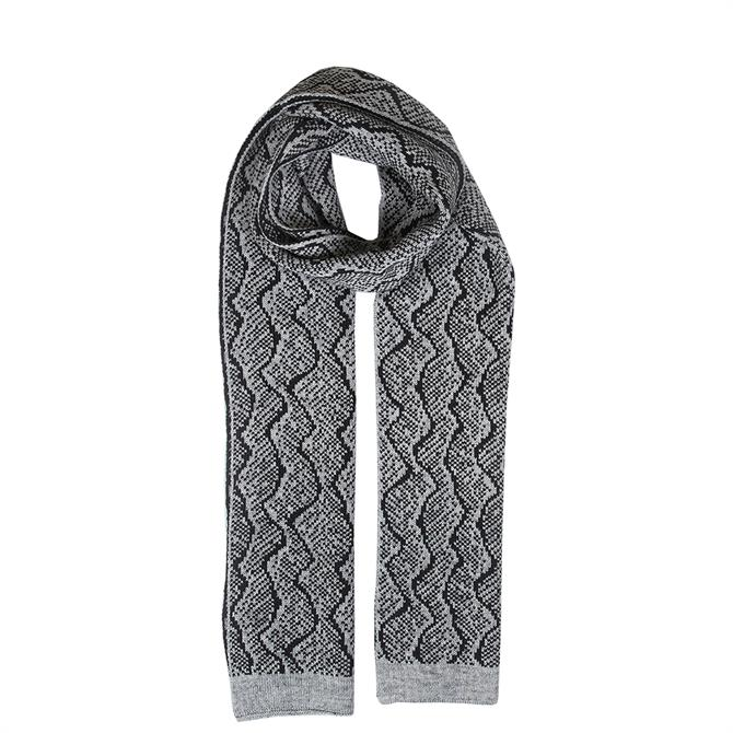 Dents Ladies Reptile Print Knitted Scarf