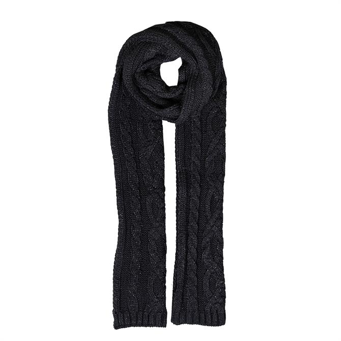 Dents Ladies Metallic Cable Knit Scarf
