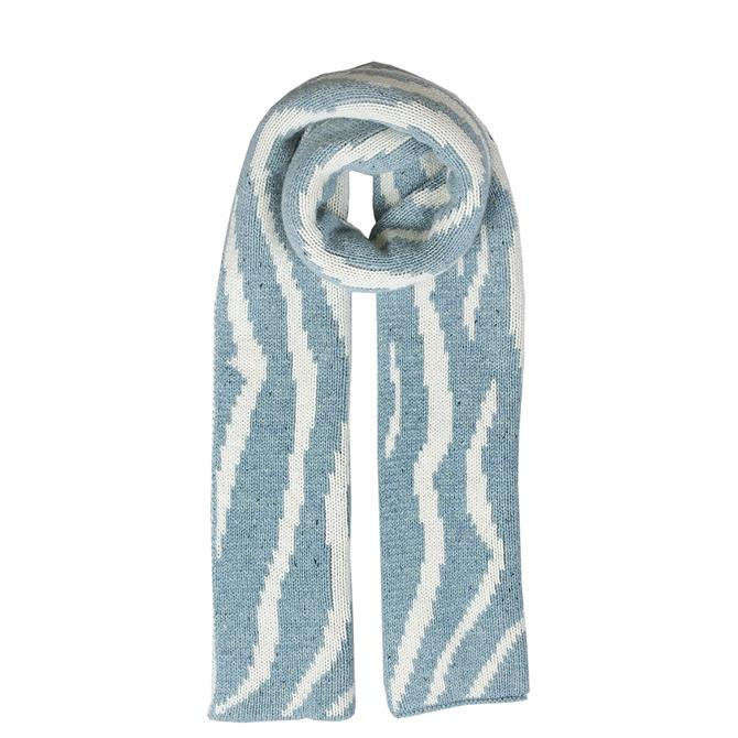 Dents Ladies Striped Knitted Scarf