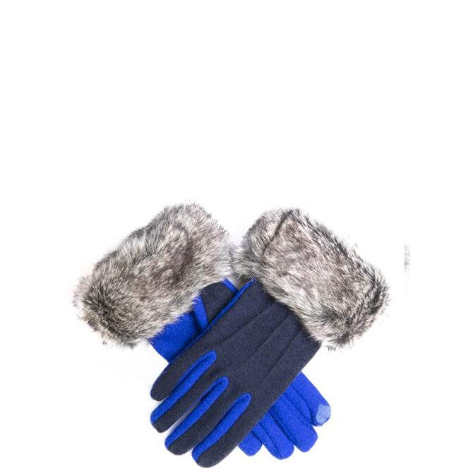 Dents Ladies Touchscreen Gloves with Faux Fur Cuffs