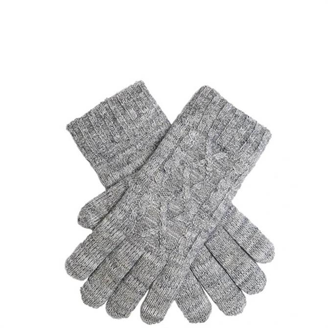 Dents Women's Metallic Cable Knit Gloves