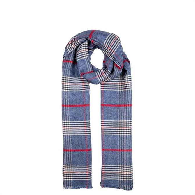 Dents Women's Lightweight Check Print Scarf