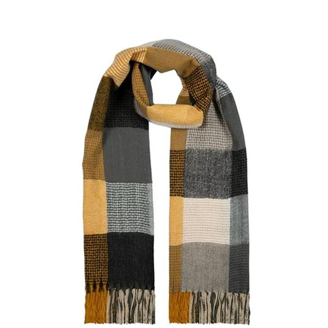 Dents Women's Midweight Wide Bold Checked Scarf