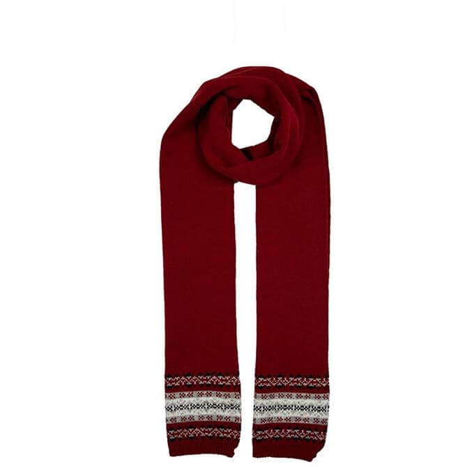 Dents Women's Knitted Scarf with Fair Isle Print