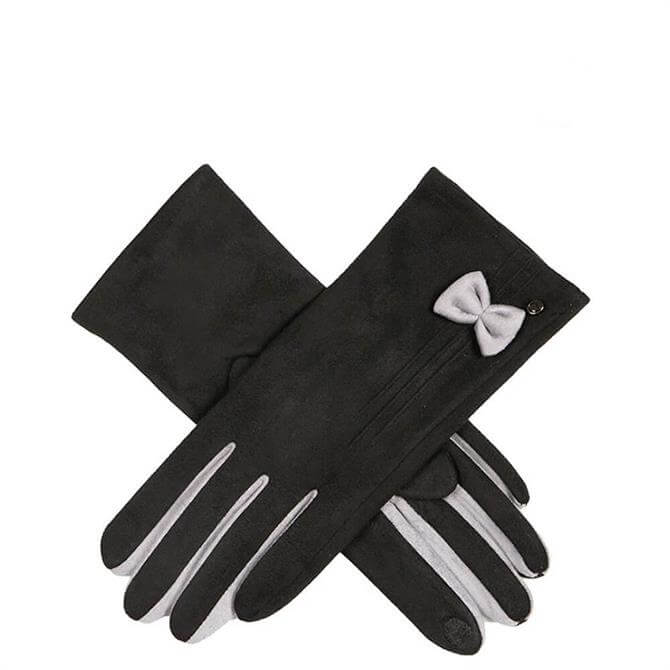 Dents Women's Faux Suede Gloves with Bow
