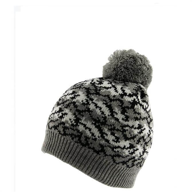 Dents Women's Knitted Beanie with Faux Fur Pom Pom