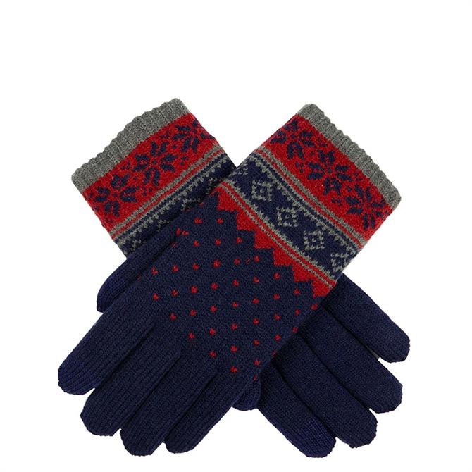 Dents Women's Snowflake Pattern Touchscreen Knitted Gloves