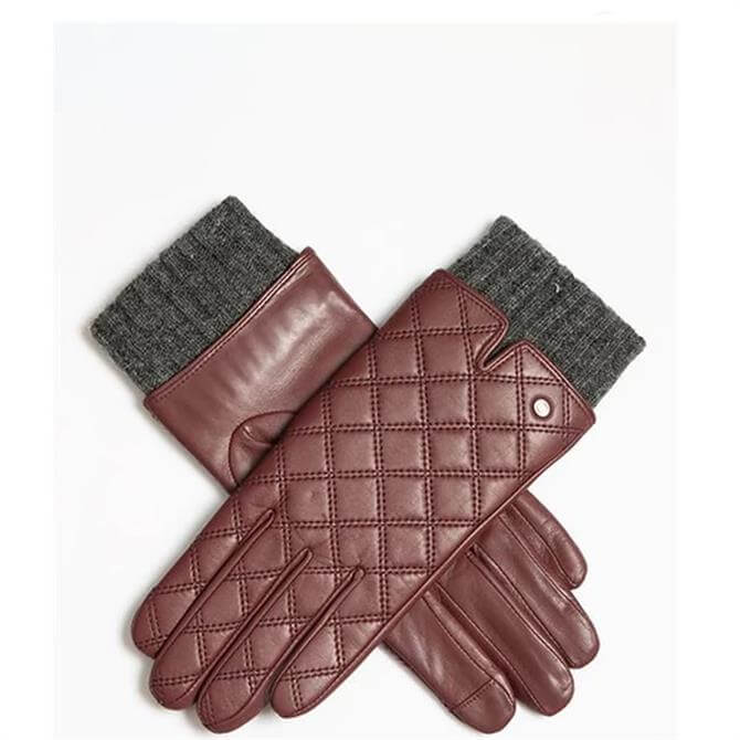 Dents Charlotte Women's Quilted Touchscreen Leather Gloves