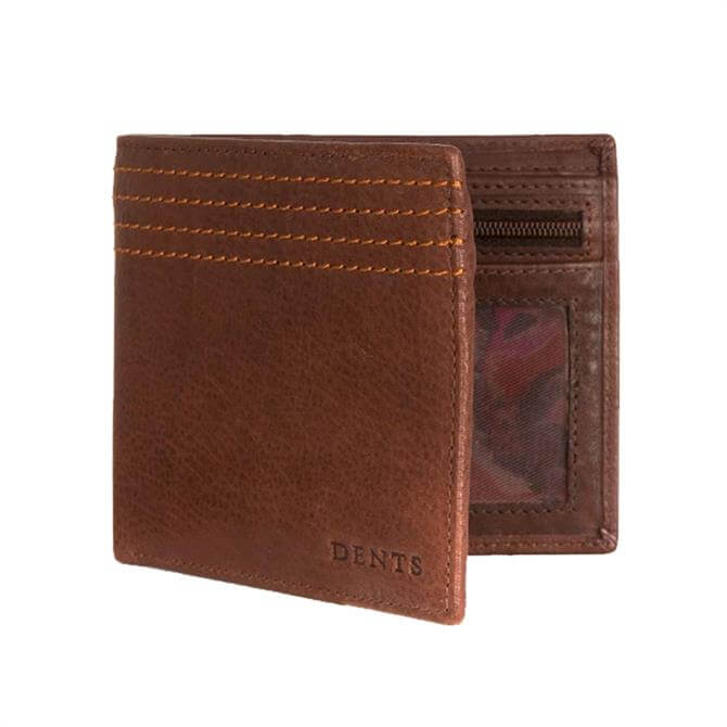 Dents Witham Contrast Stitch Pebble Grain Leather Wallet with RFID Blocking Protection