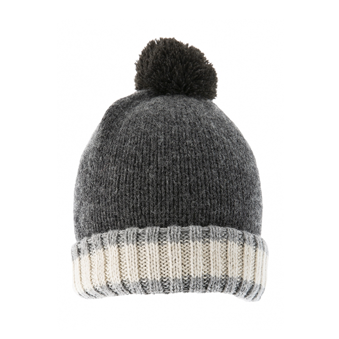Dents Knitted Hat with Pom Pom