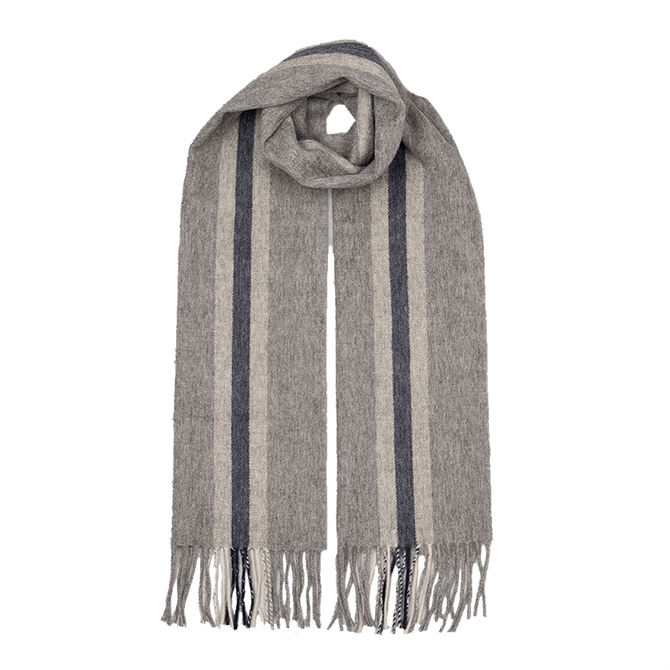 Dents Striped Lambswool Scarf