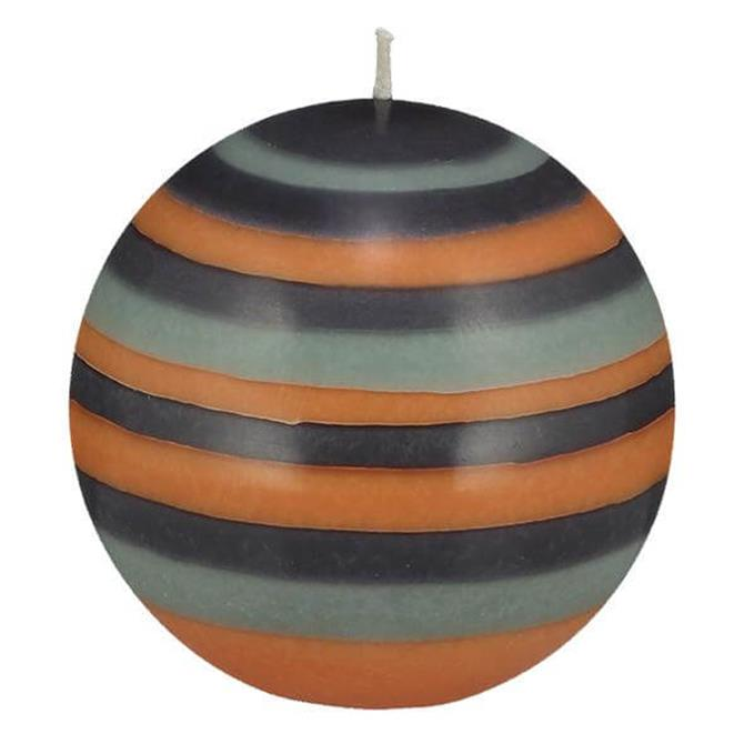 Designed in Colour Ball Candle Large Striped