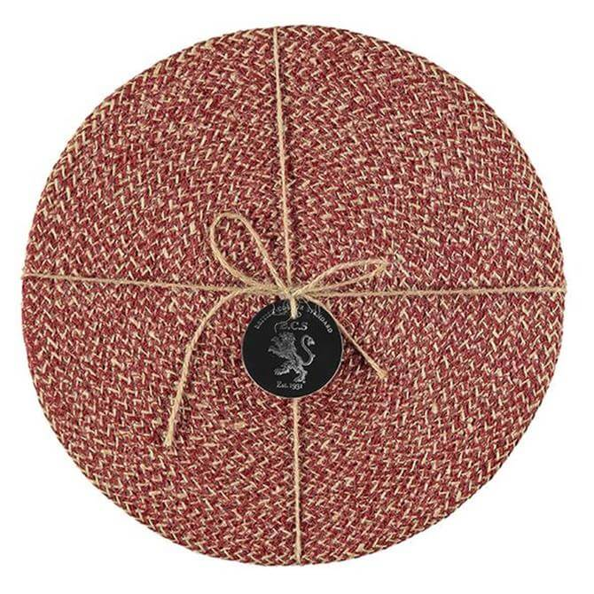Designed In Colour Jute Placemats Set of 4