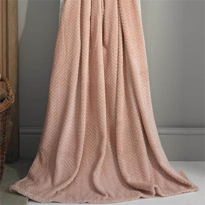Deyongs Brampton Pink Plush Throw