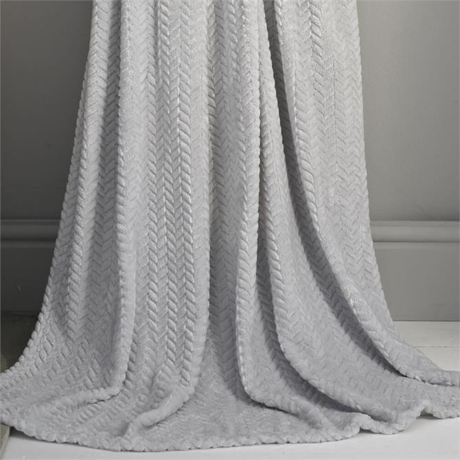 Deyongs Brampton Silver Plush Throw