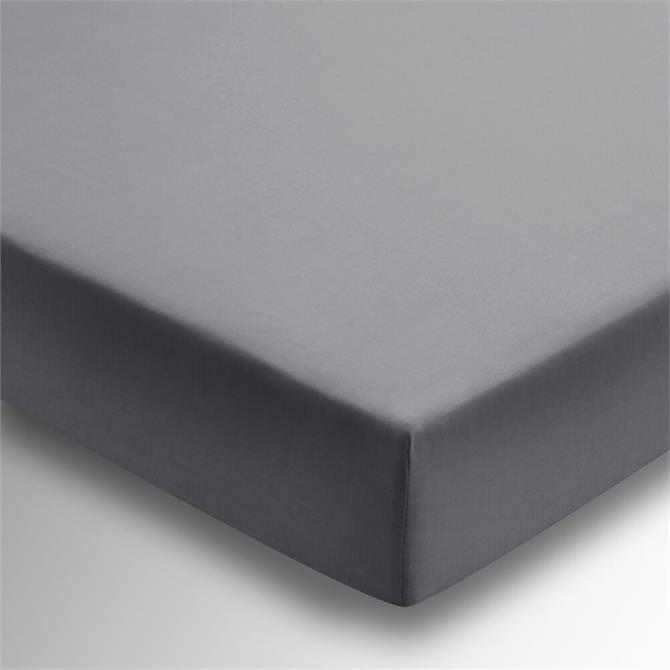 DKNY Grey Plain Dye Fitted Sheet