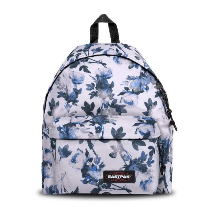 An image of Eastpak Padded Pak'r® Romantic White Floral Backpack - WHITE