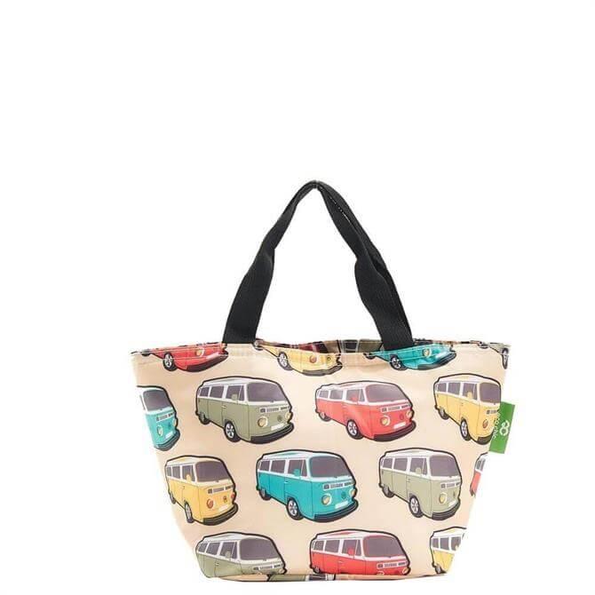 Eco Chic Lightweight Foldable Beige Camper Vans Lunch Bag