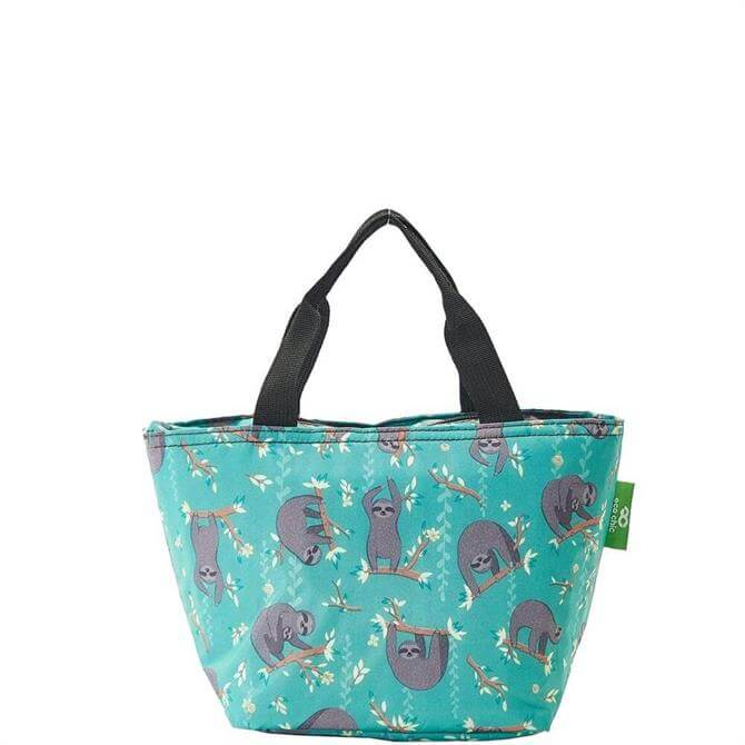 Eco Chic Lightweight Foldable Sloth Lunch Bag